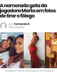 Namorada da Jogadora Marta peladinha em fotos nuas