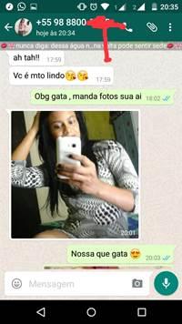 Morena muito safada teve fotos de sexo por telefone compartilhadas no Zap