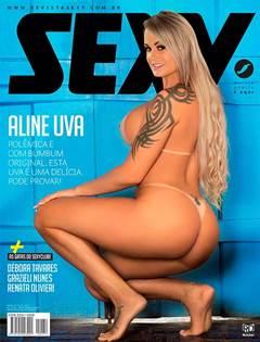 Aline Uva Nua na Revista Sexy de Abril de 2019
