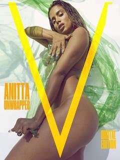 Anitta nua no ensaio sensual para a V Magazine