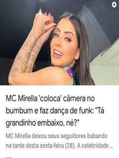 MC Mirella colocou câmera na buceta pra dançar funk