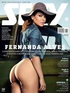 Jornalista Fernanda Alves nua na Revista Sexy